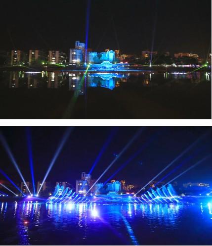 龙岩中心城区红色旅游精品线路项目(龙津滨河景观旅游体验带)灯光秀水秀工程