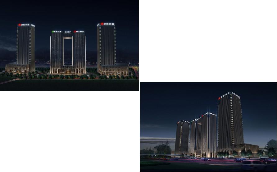 奥体金融中心BC楼房地产开发项目泛光照明工程